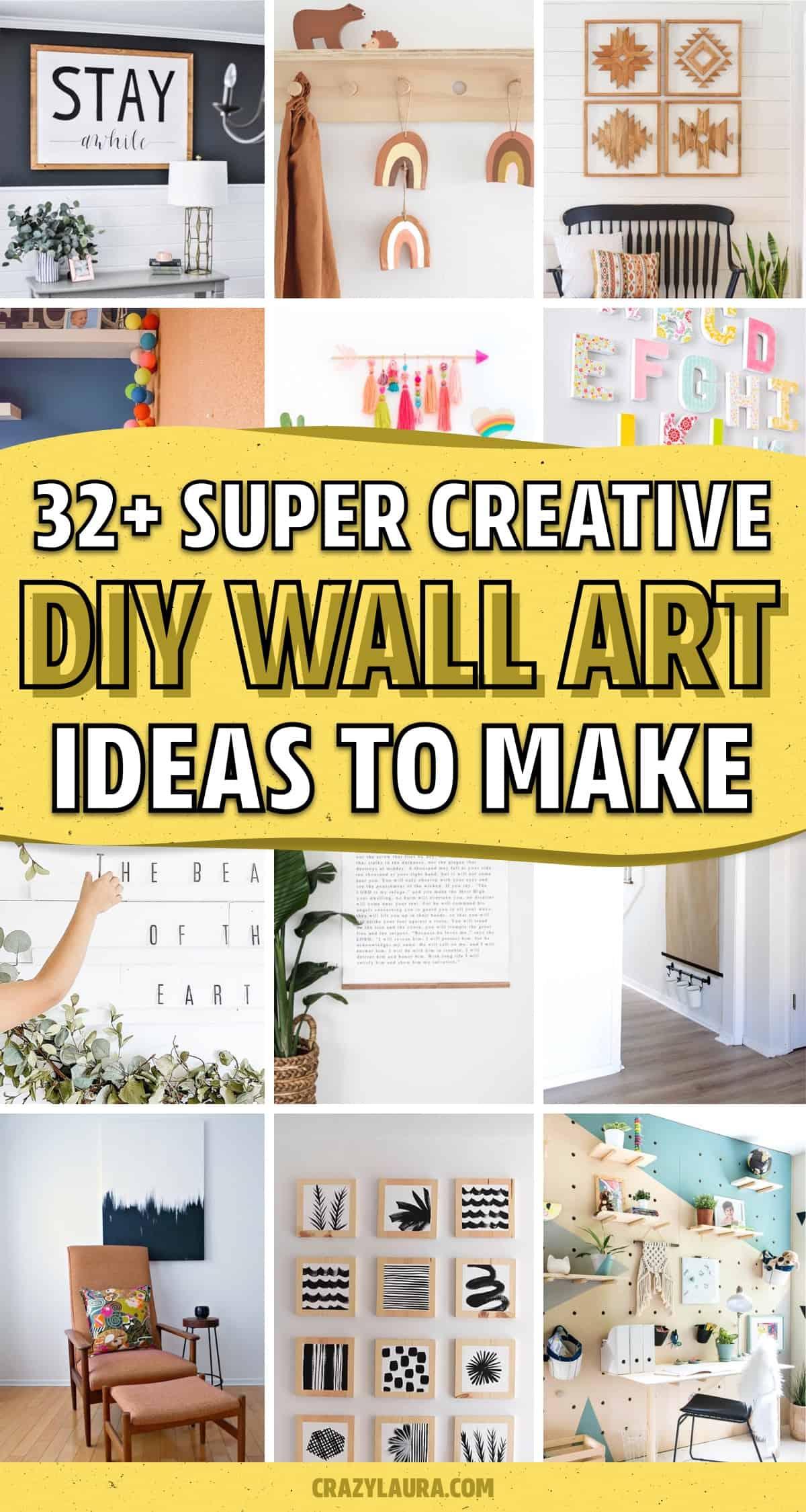 do it yourself wall decor tutorials