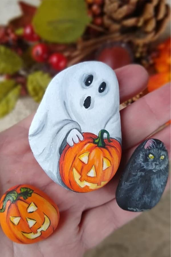 best halloween rock painting ideas
