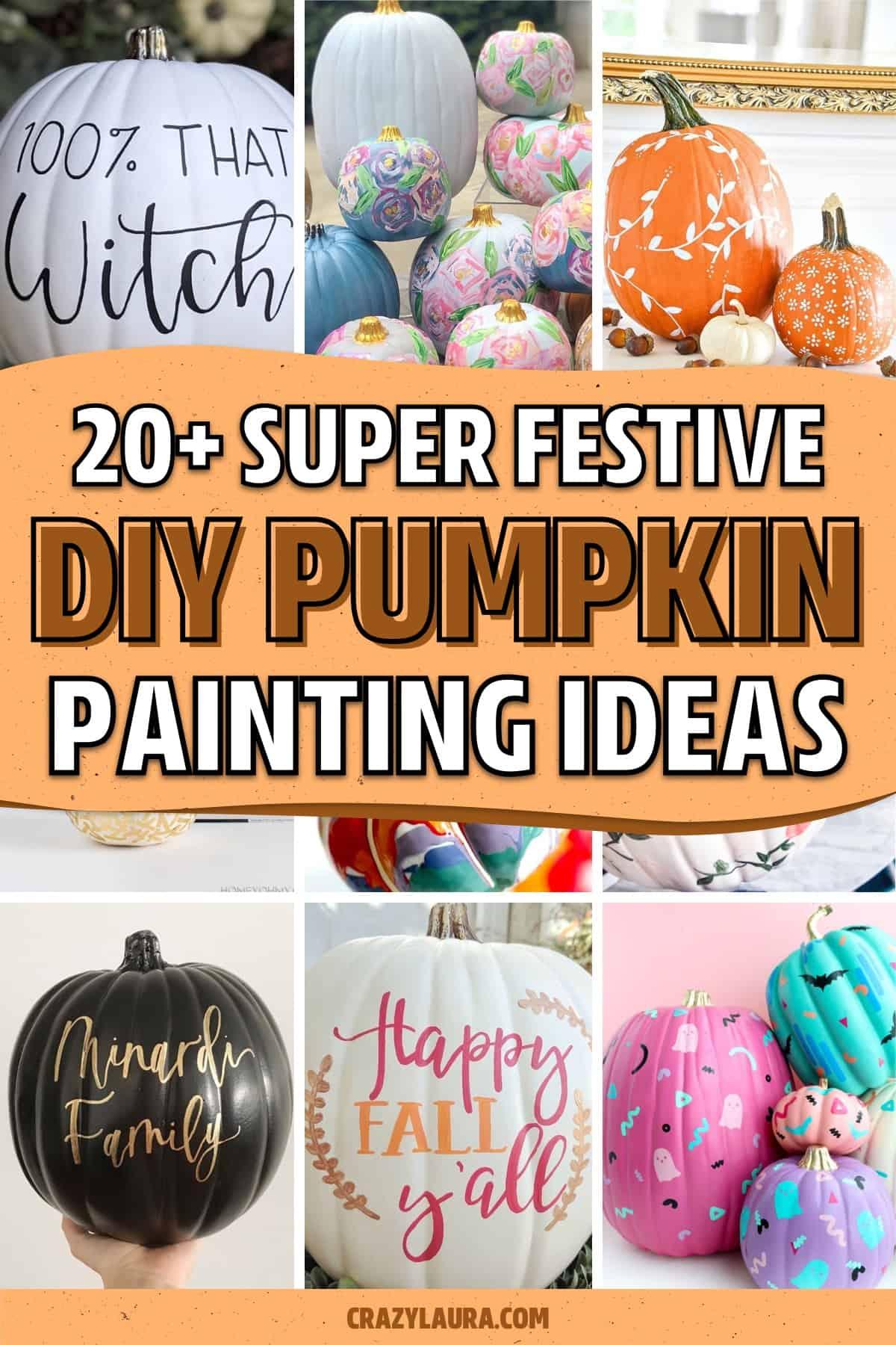 no carve pumpkin decorating ideas for inspiration