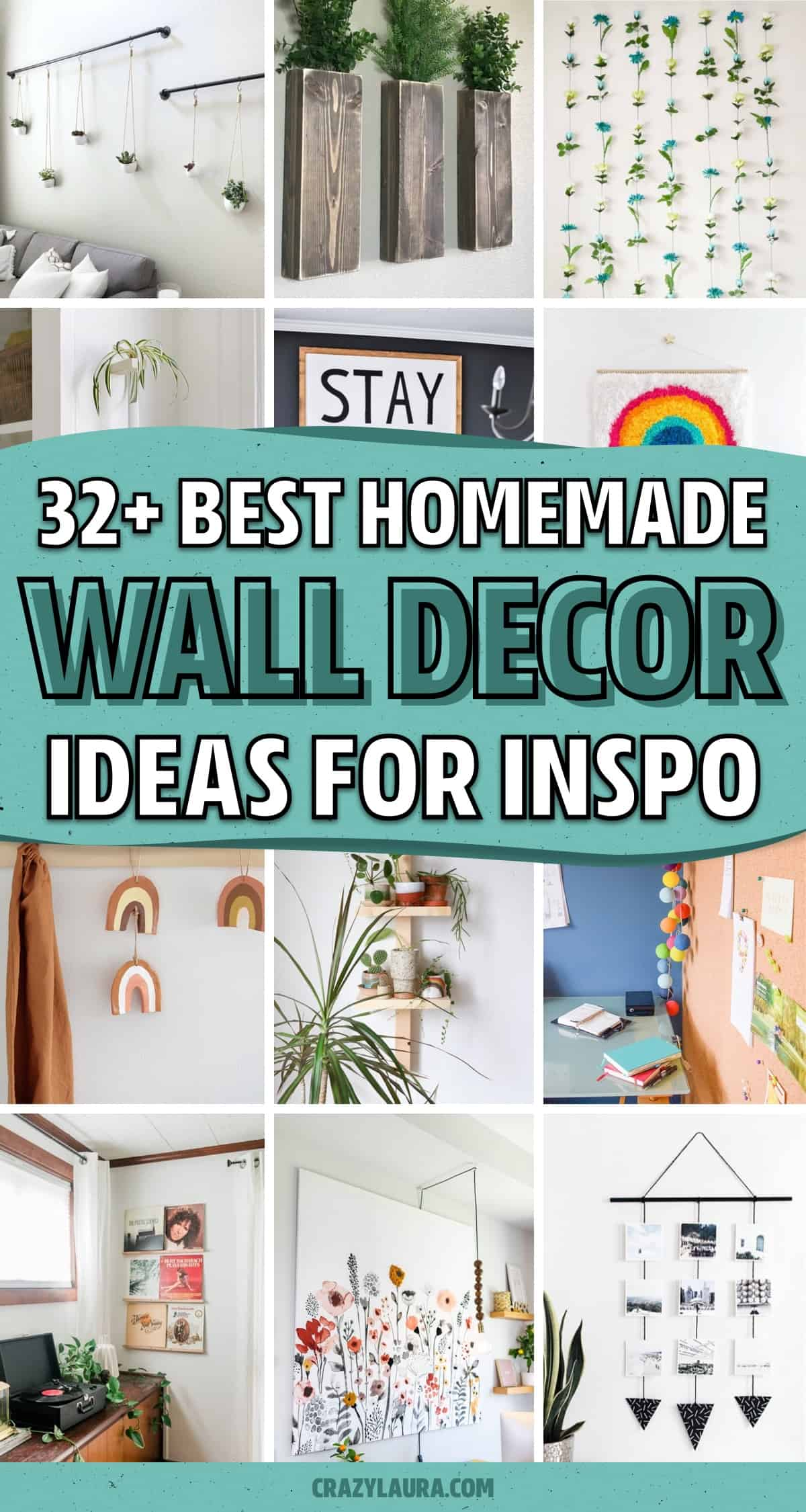 inspiration for homemade wall hangings