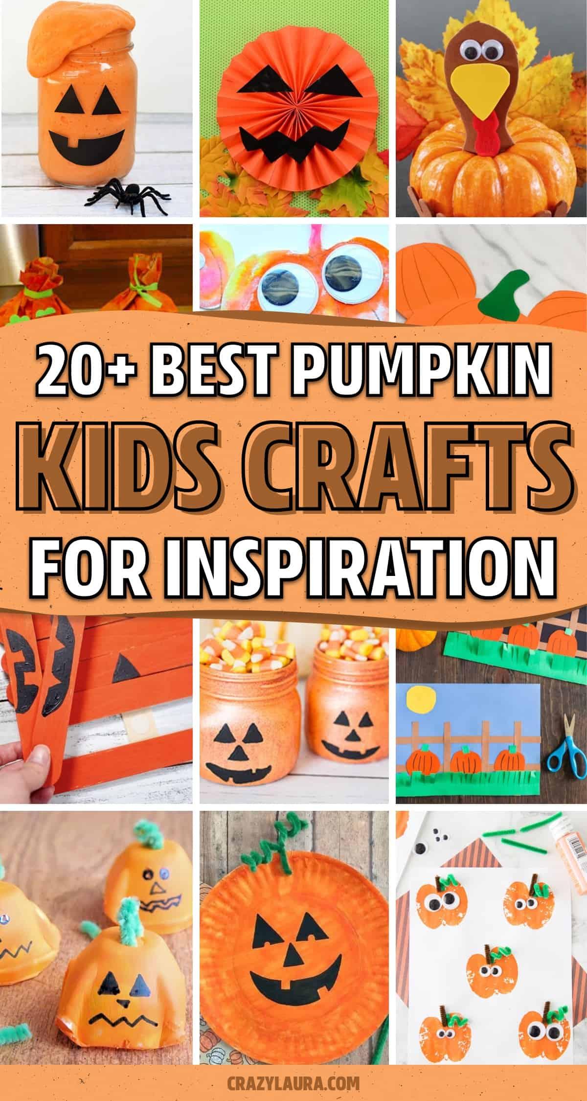 craft activity tutorials with pumpkin shapes