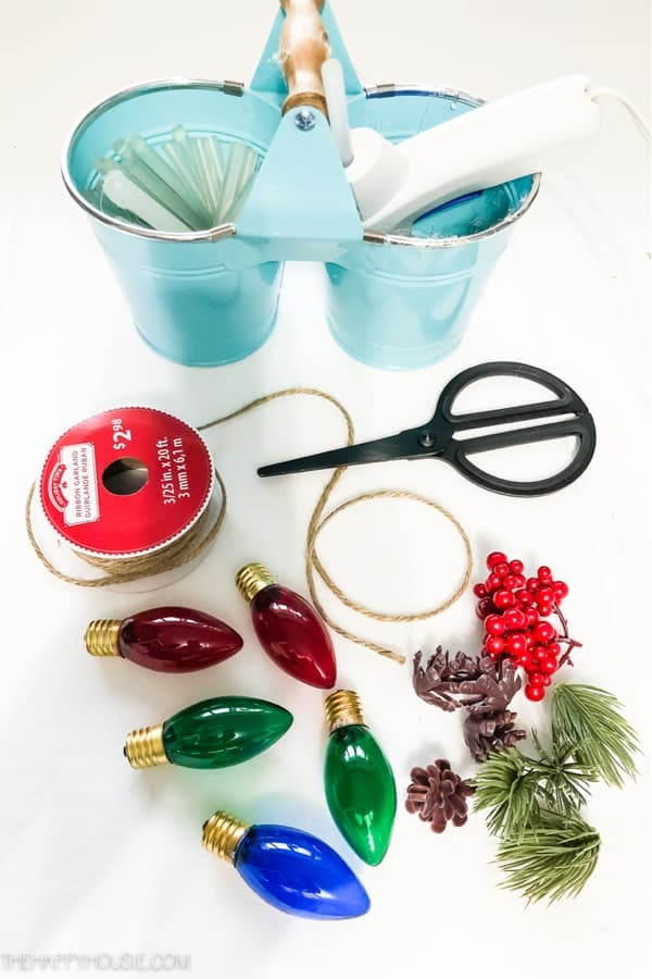 light bulb diy christmas ornament craft