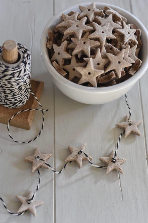 christmas ornaments made from diy salt dough