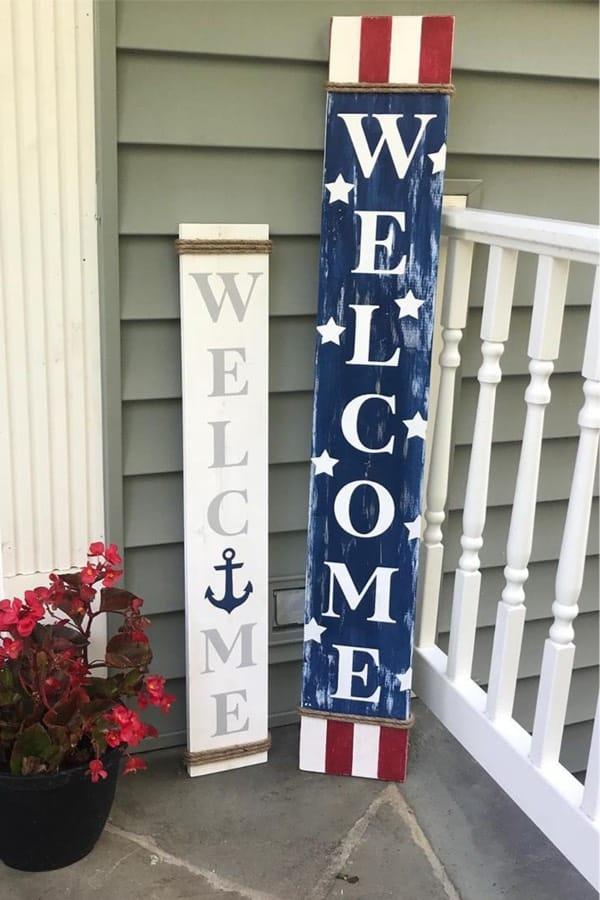 diy front porch sign for summer
