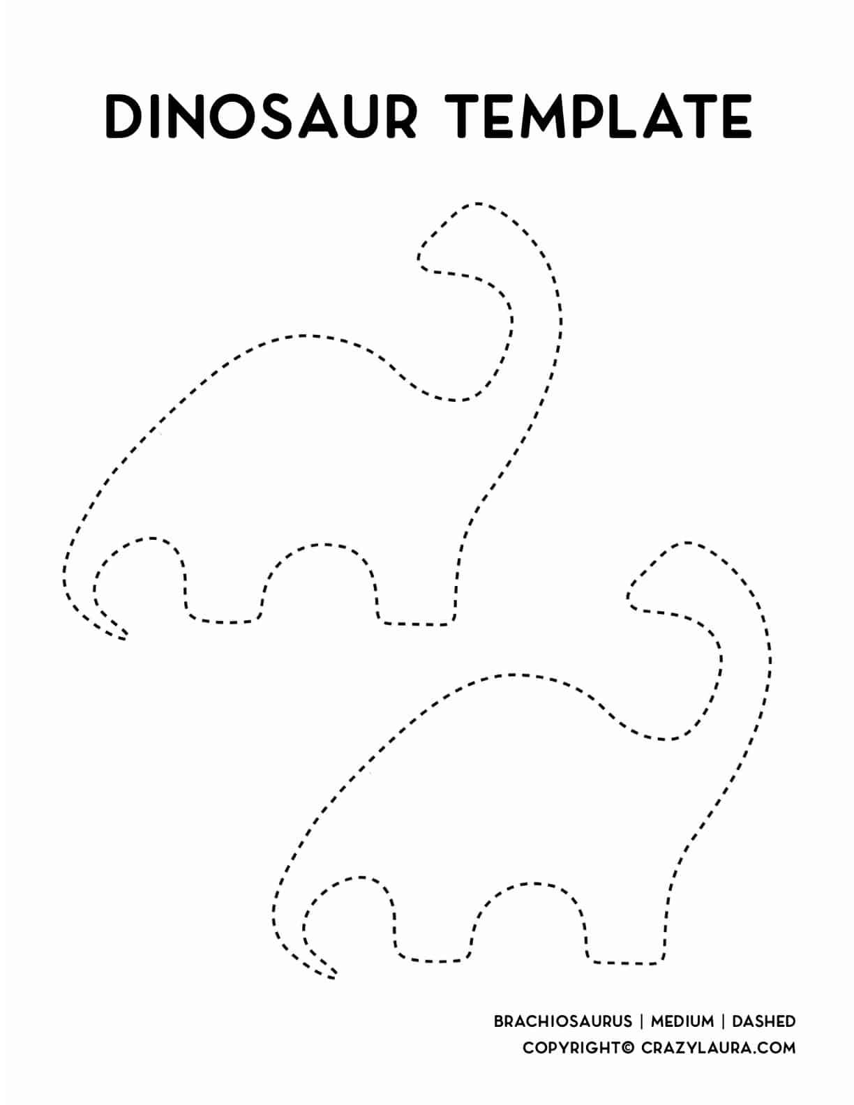 medium sized brachiosaurus printable template