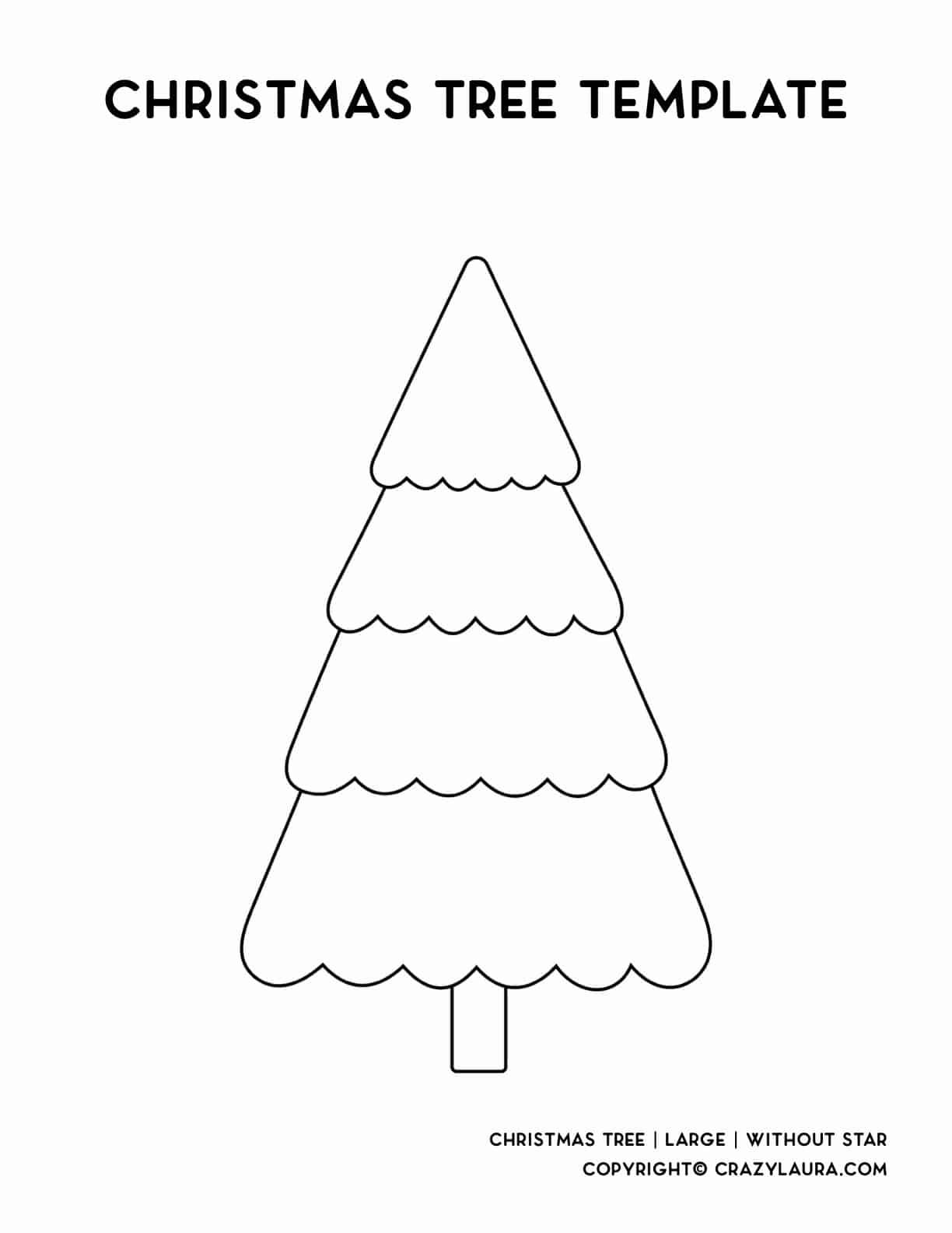 large december tree printable for kids crafts