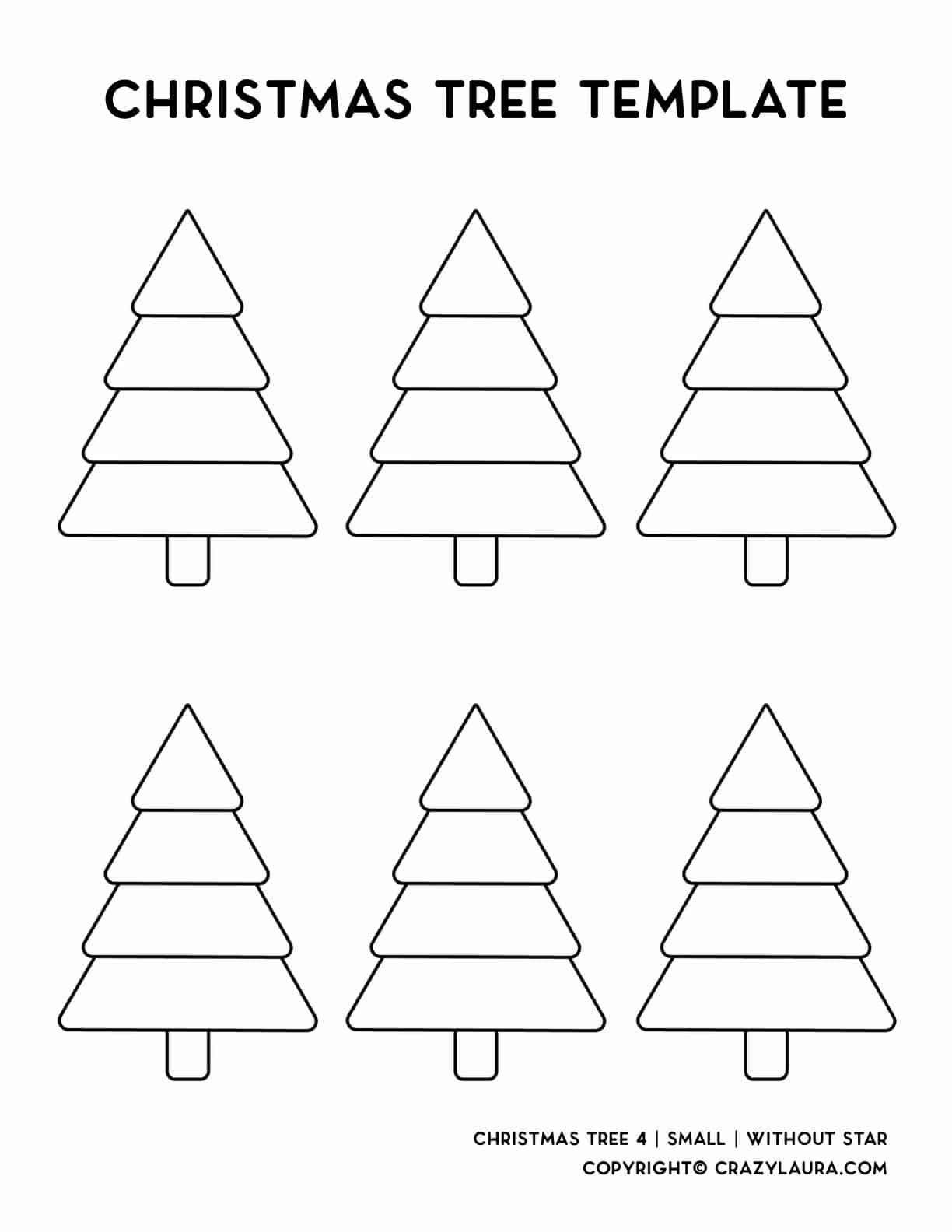 easy printable pdf for holiday tree