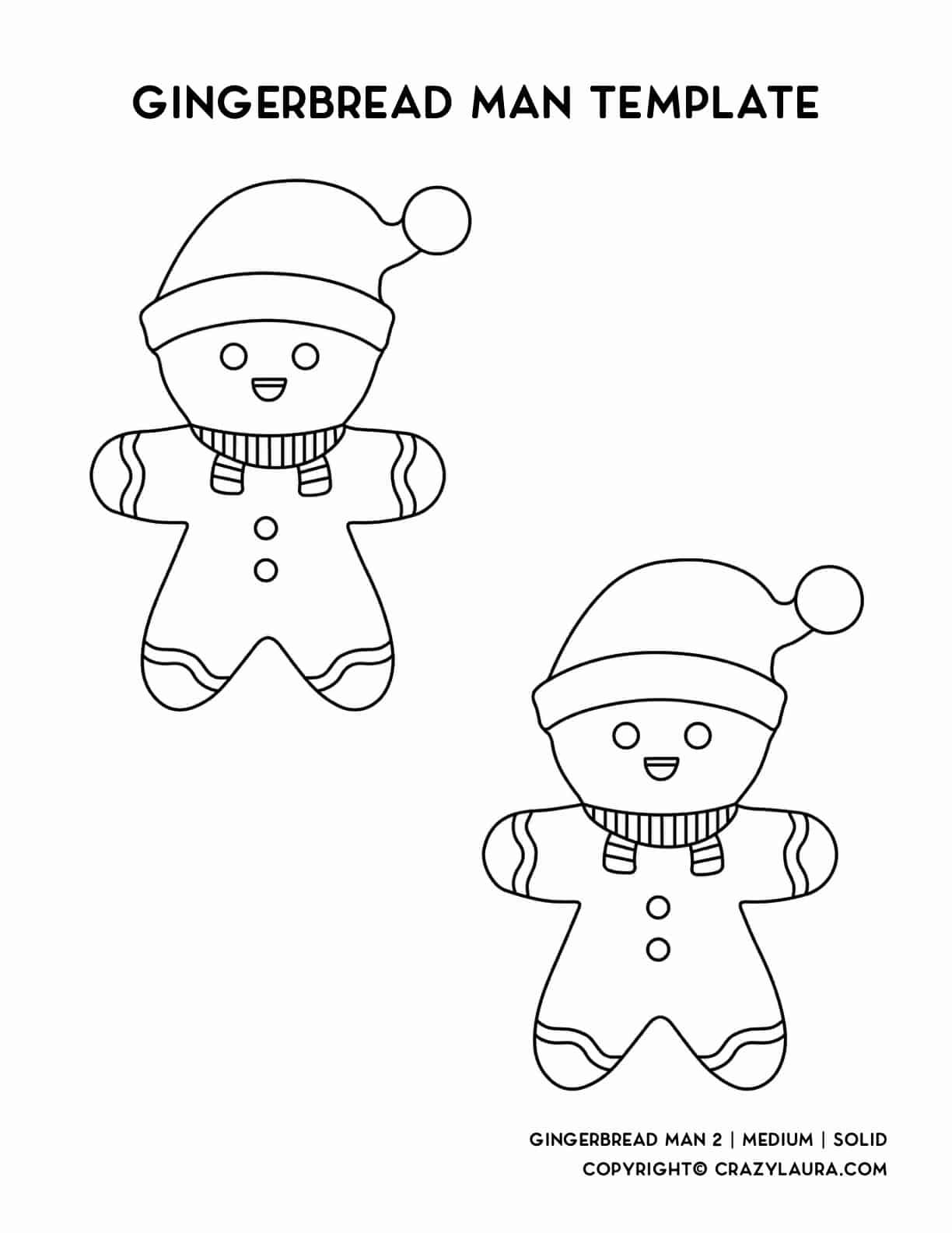 cute gingerbread with santa hat