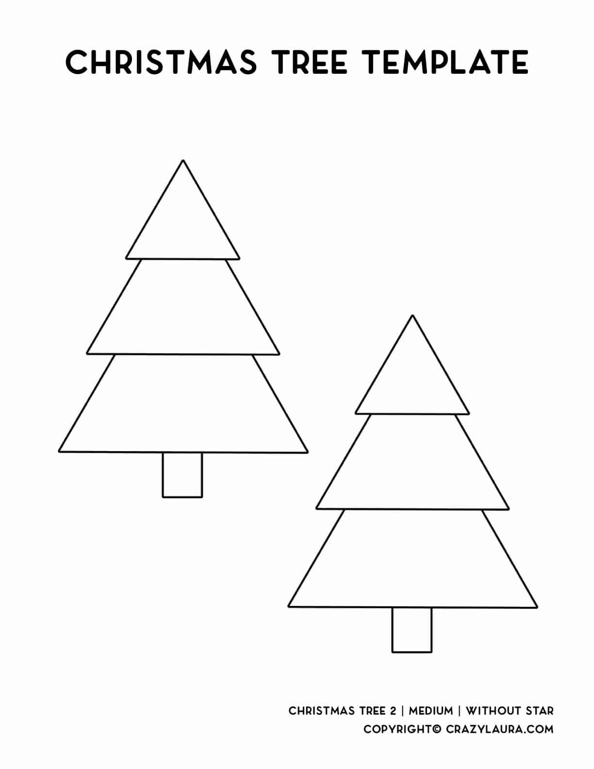 printable sheet for christmas trees