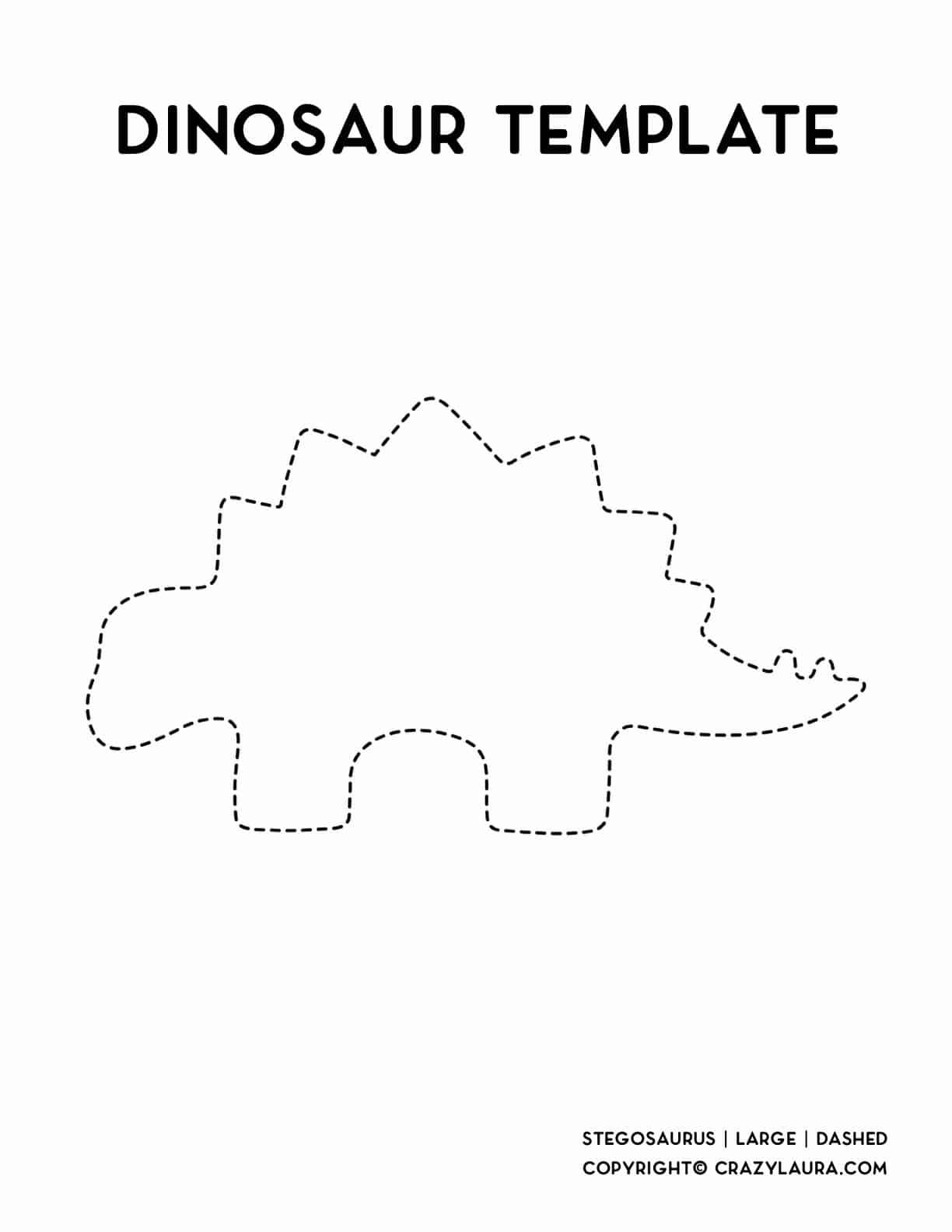 large stencil outline of kids dinosaur