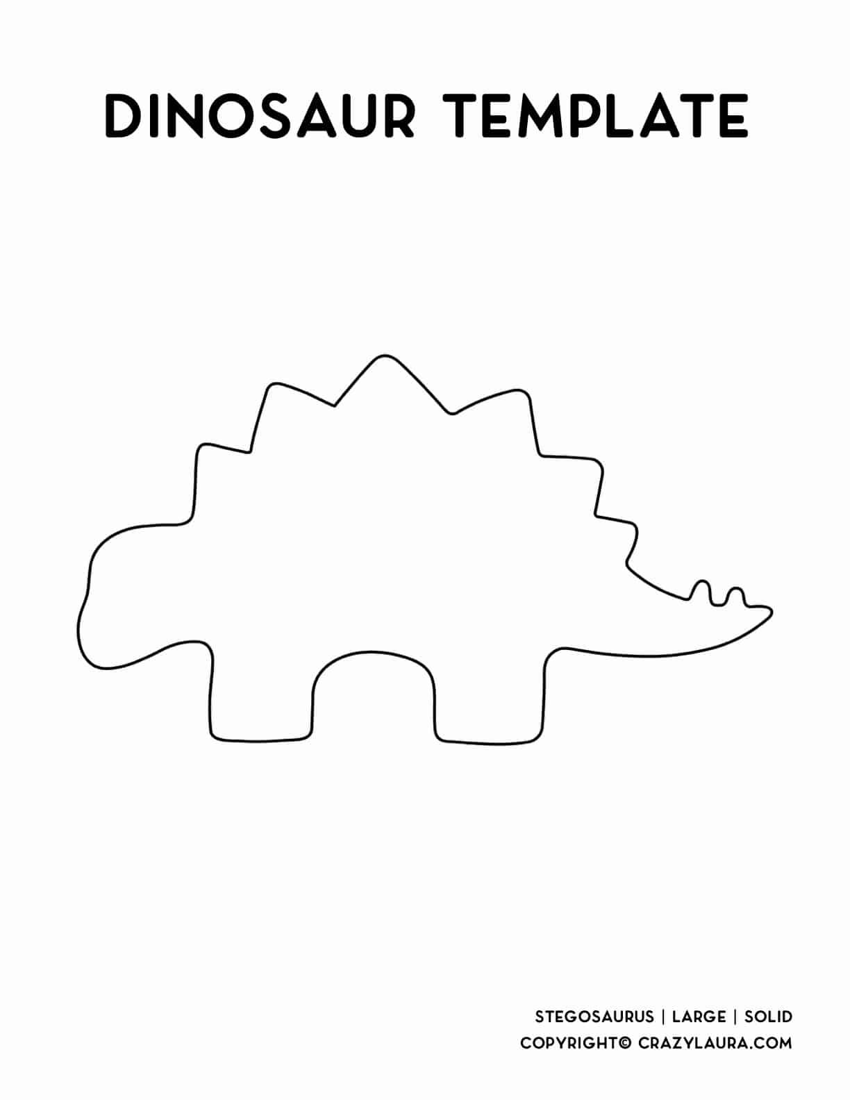 solid outline of stegosaurus dinosaur