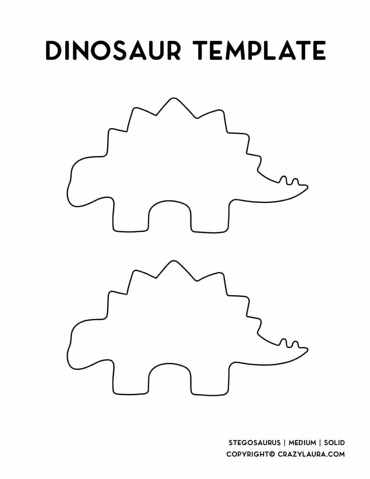 free printable template for stegosaurus