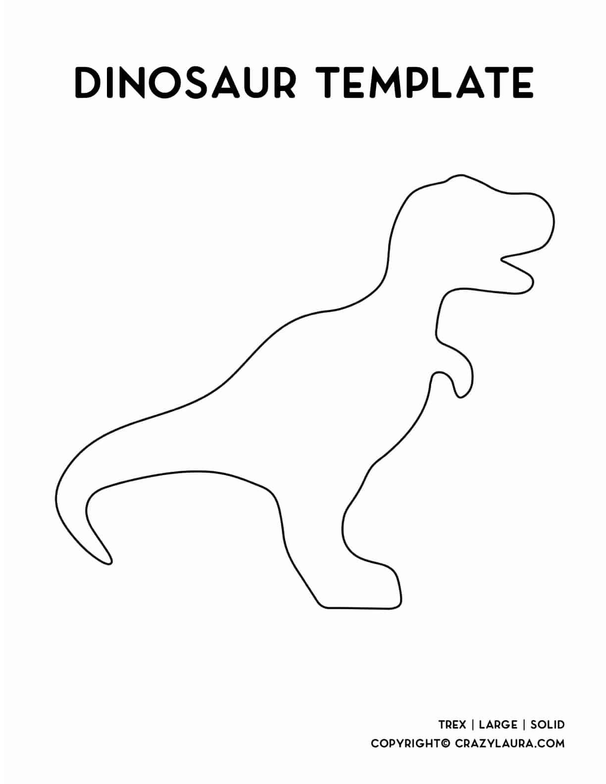 cute dinosaur templates for kids