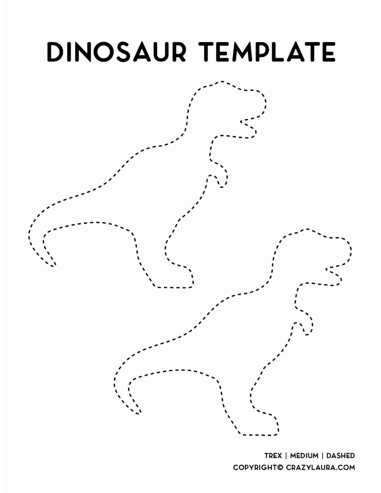 trex dinosaur free template download