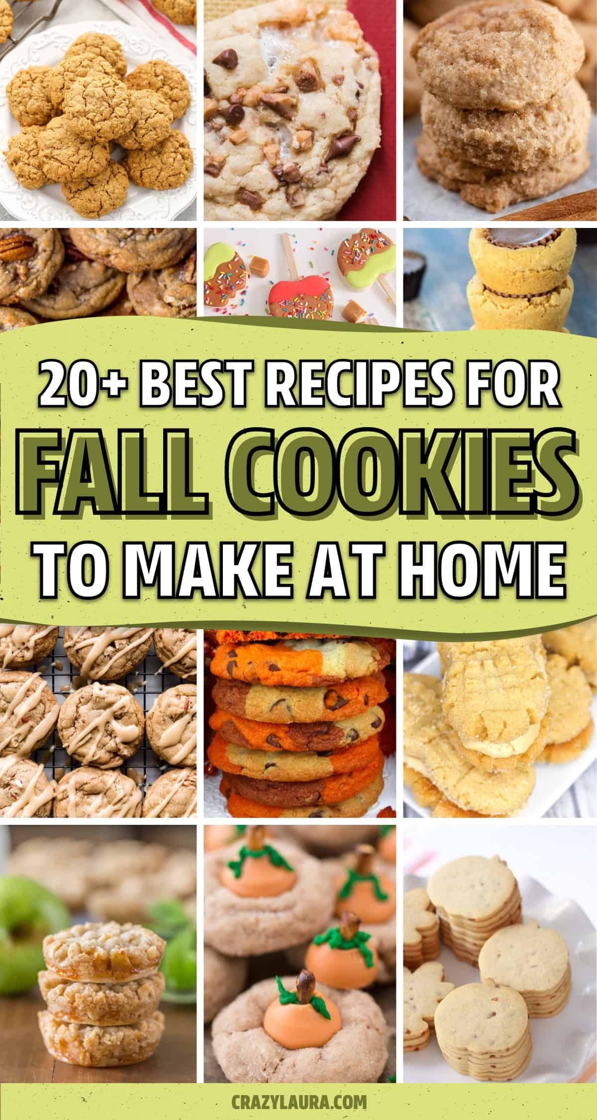 dessert cookie ideas for fall
