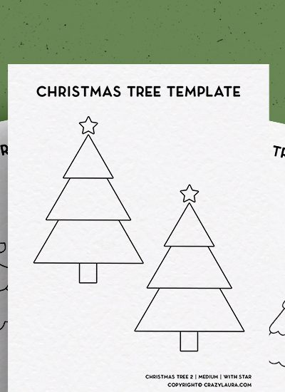 free paper christmas tree templates to download