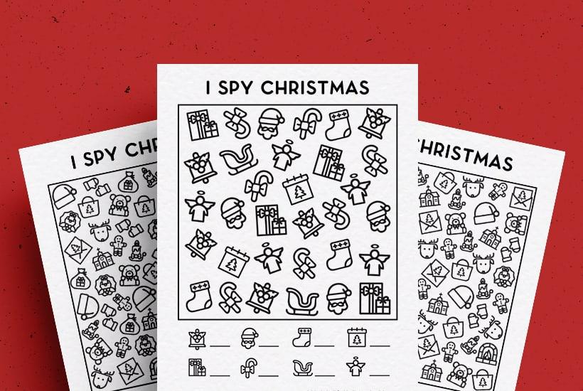 Free Christmas I Spy Printable Activity For Kids