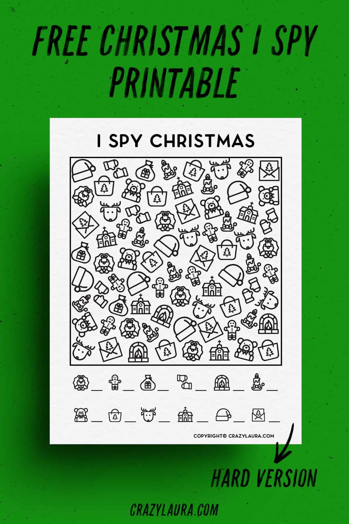 christmas themed free ispy print game