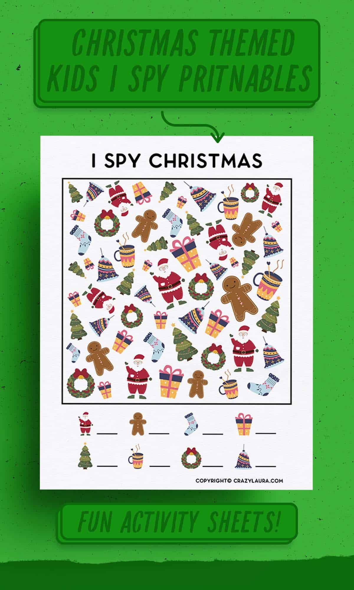 free I spy christmas kids game