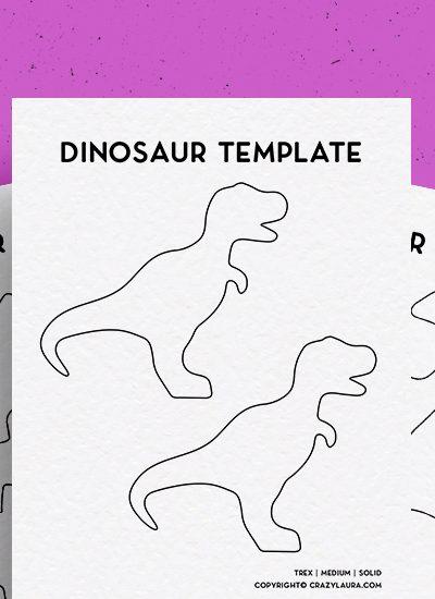 free outline printables for dinosaur crafts