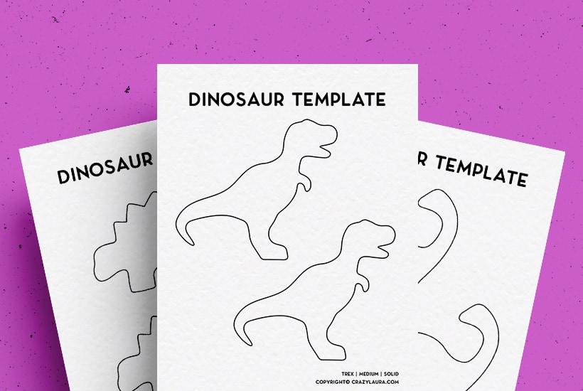 Free Dinosaur Template & Printable Stencil For 2022