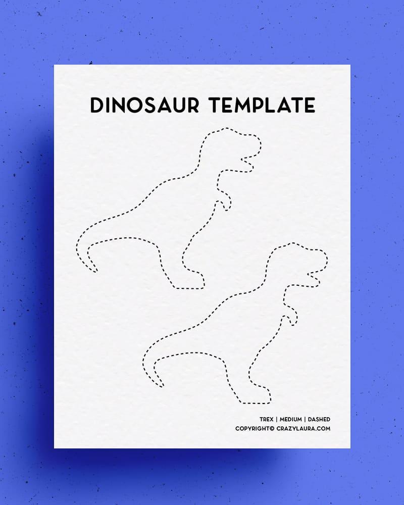 simple cutout printable of dinosaur