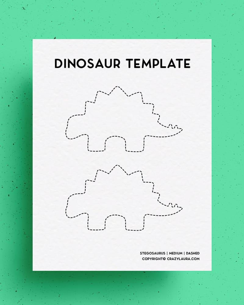 free outline of stegosaurus