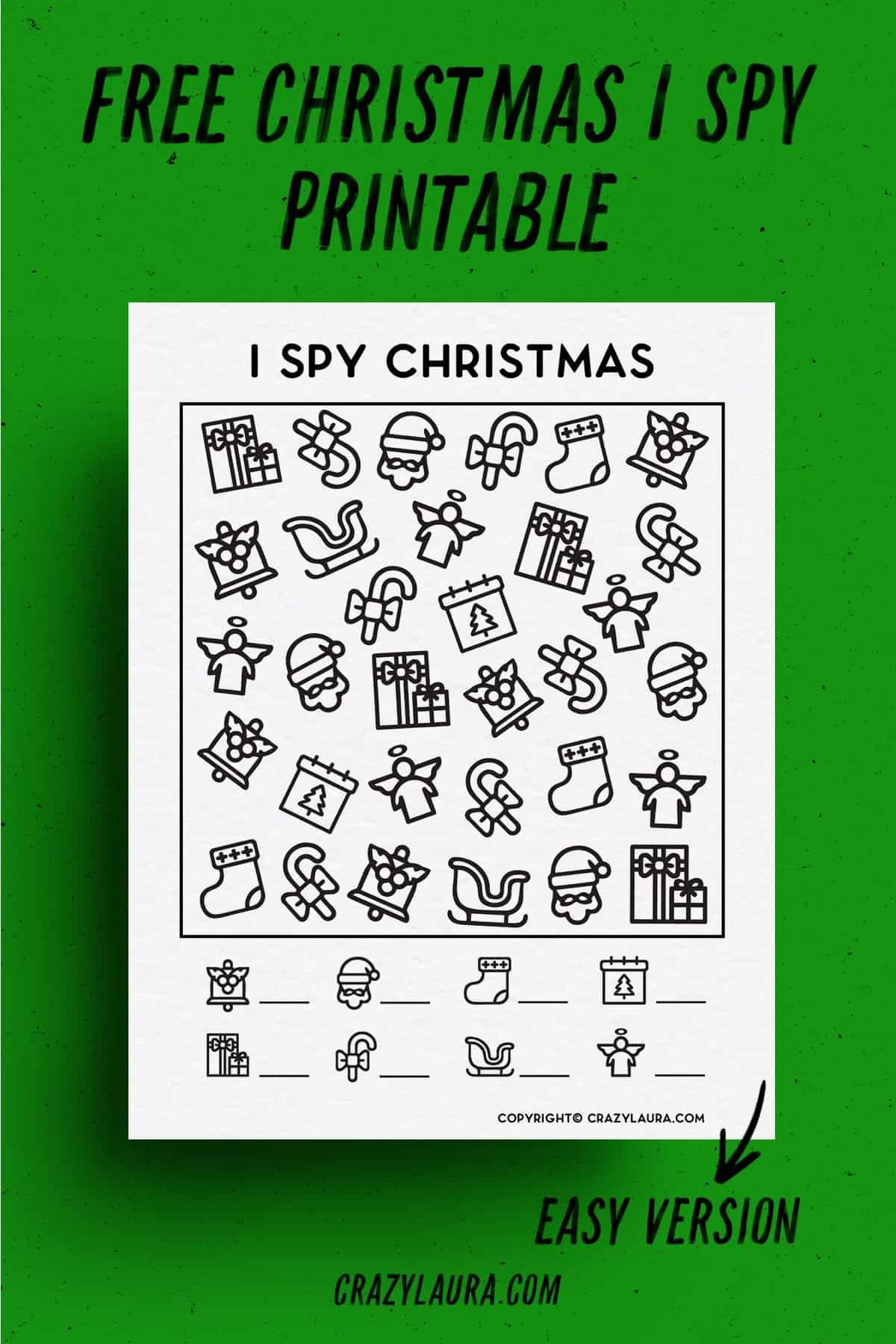 ispy christmas themed free printable game