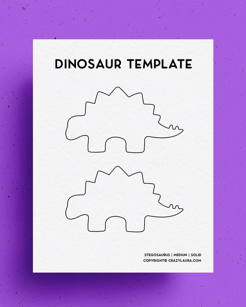 free stegosaurus stencil printable