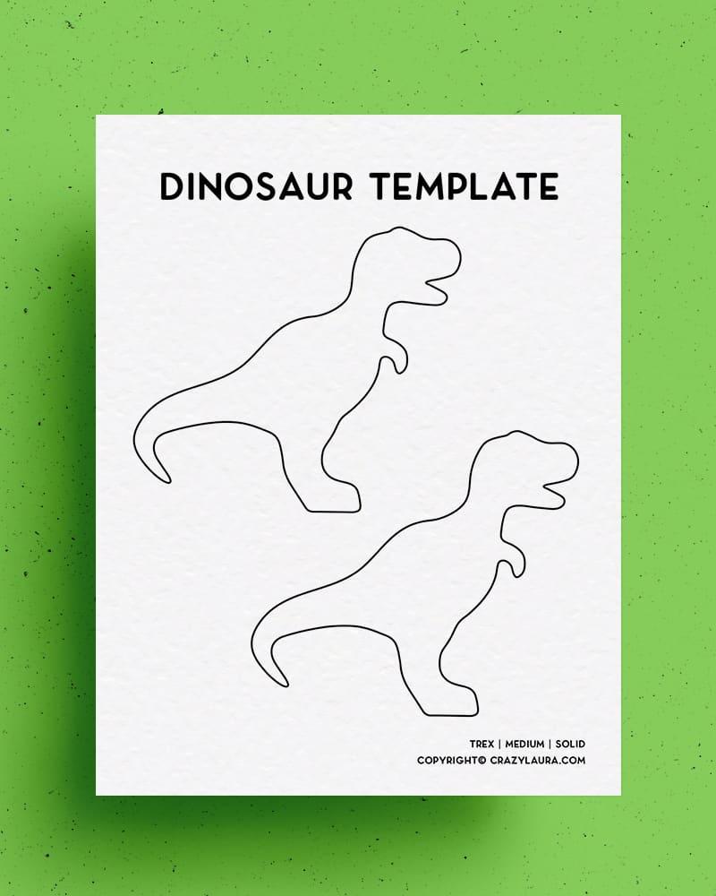 dinosaur template for kids crafts
