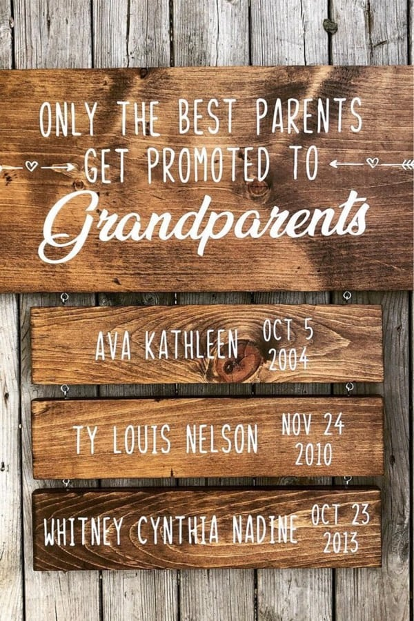 cute homemade wall sign for grandkids