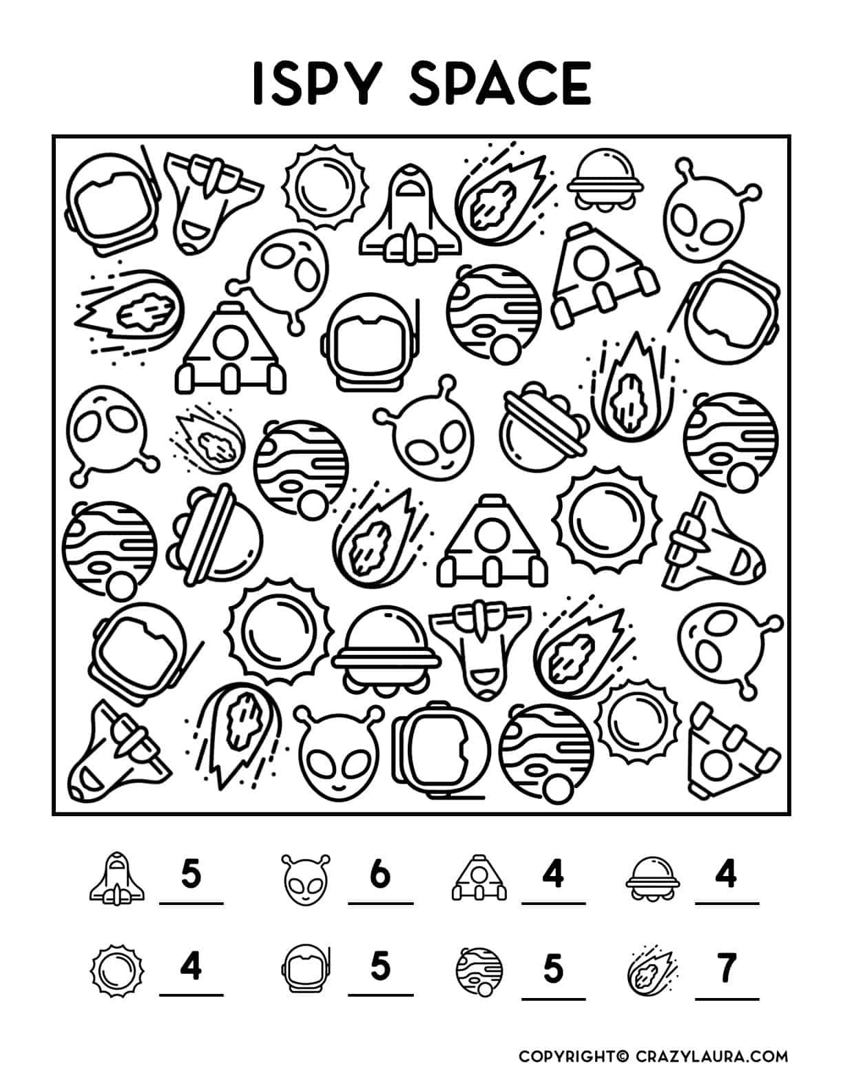 free printable boredom buster game