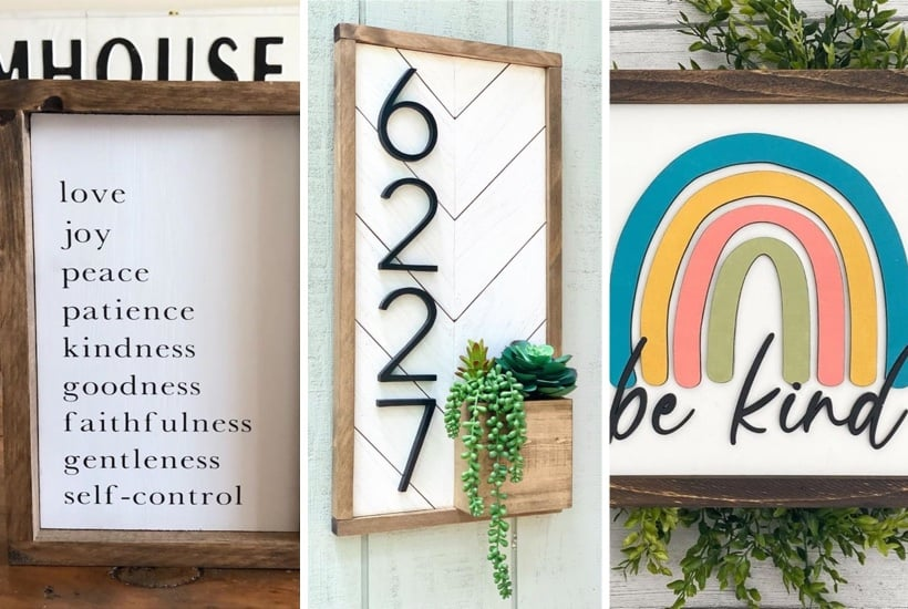 creative examples of wood sign inspiration