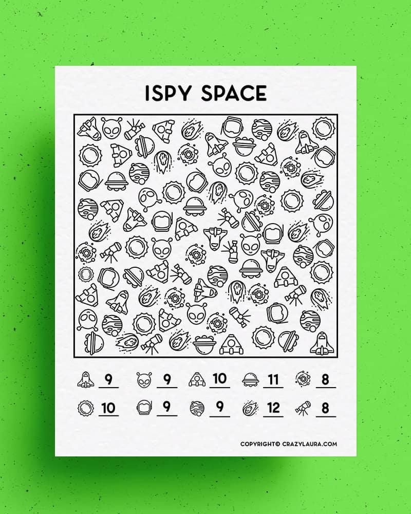 i spy space free to print game