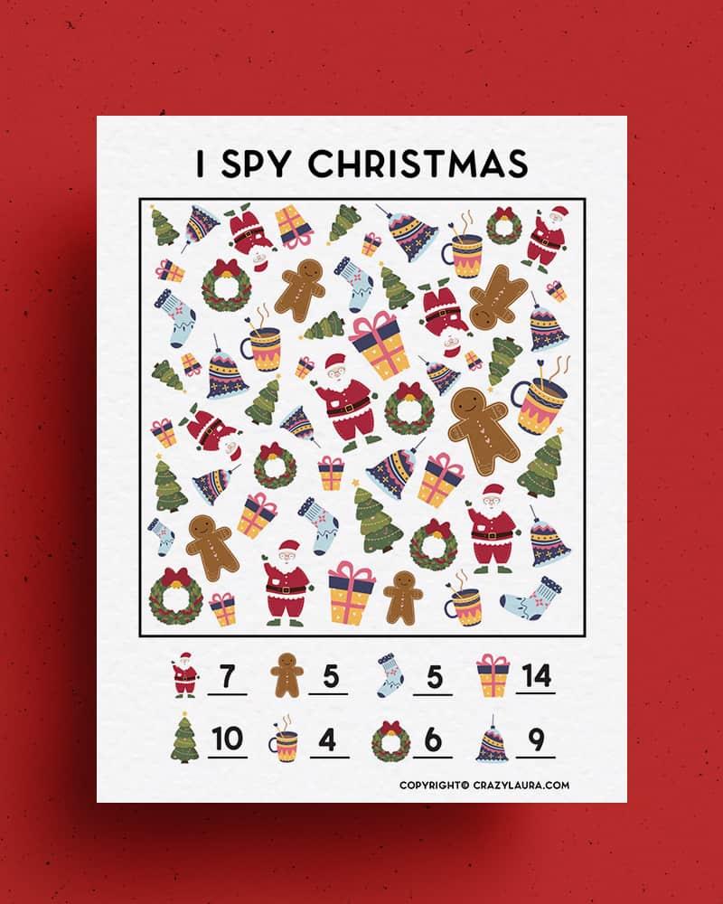 color i spy kids game for holidays