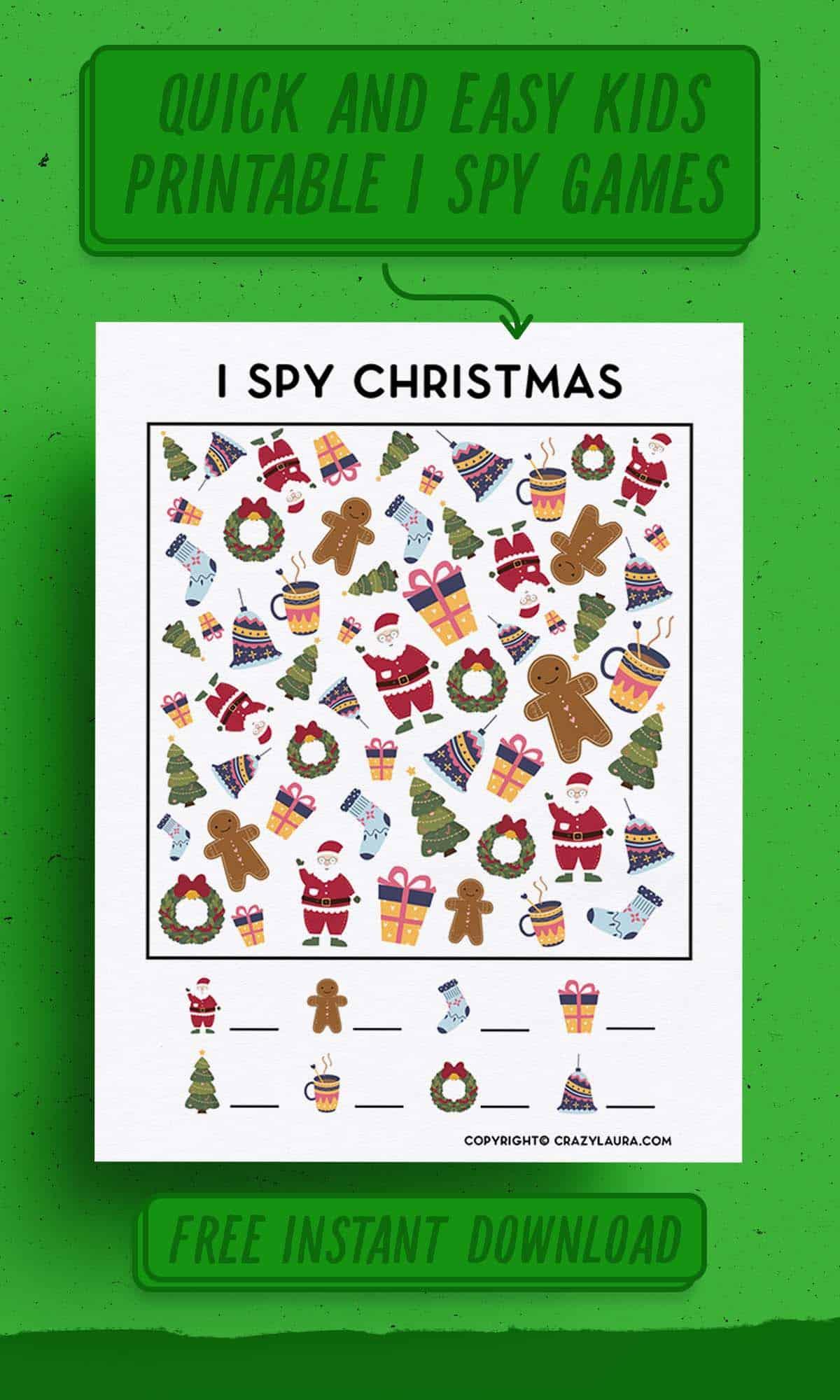 free christmas themed i spy
