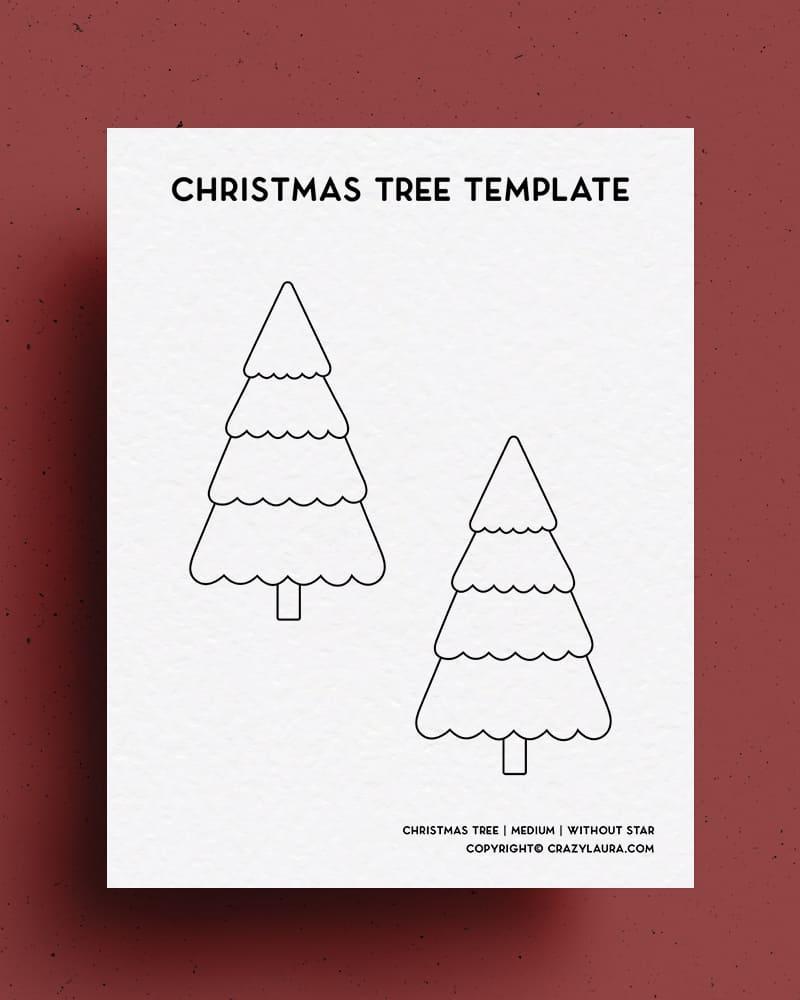 free cutout printable for christmas trees