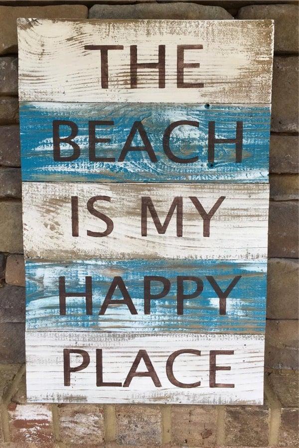 diy beach house wall sign