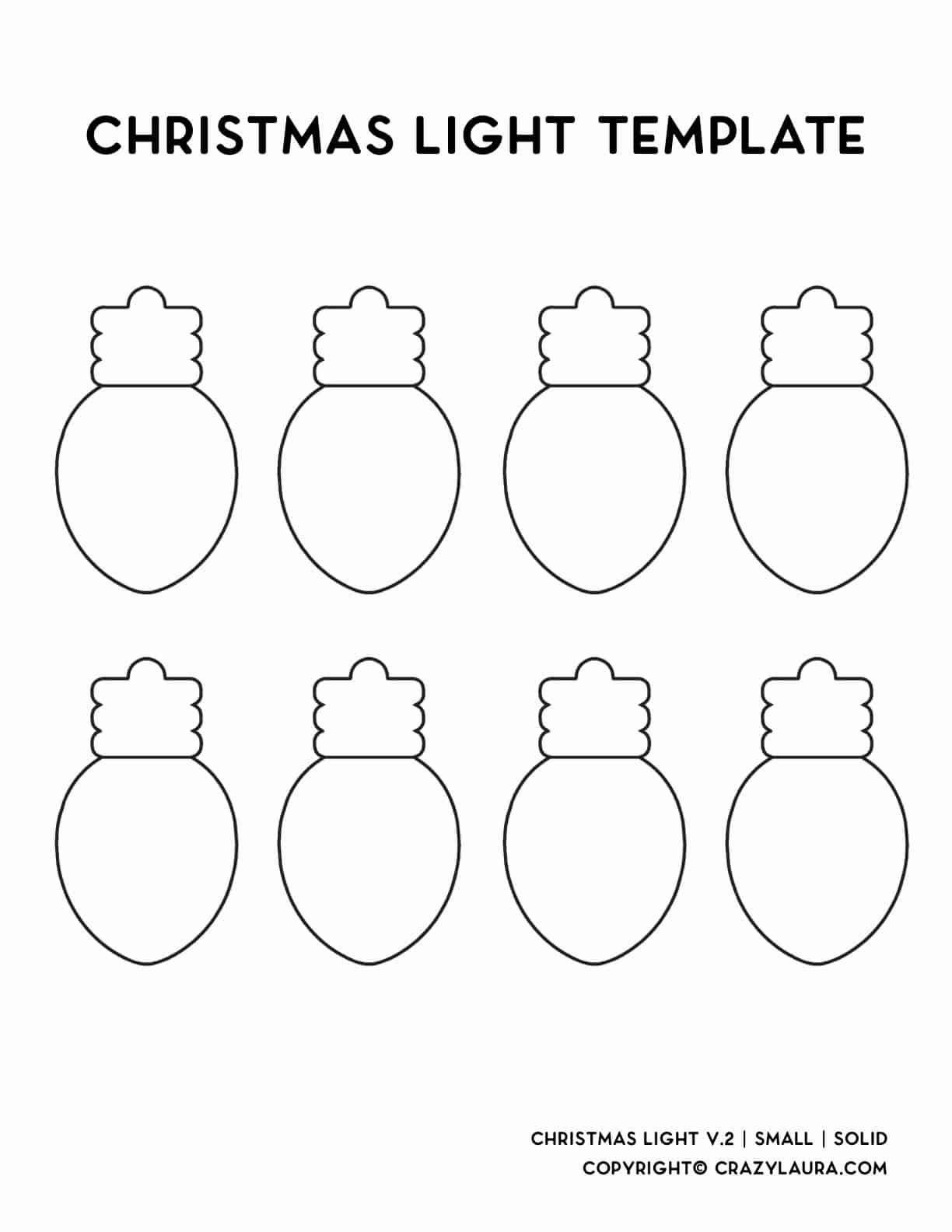 small garland template for christmas lights