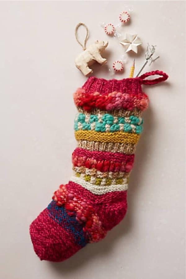 anthropologie knock off diy holiday stocking