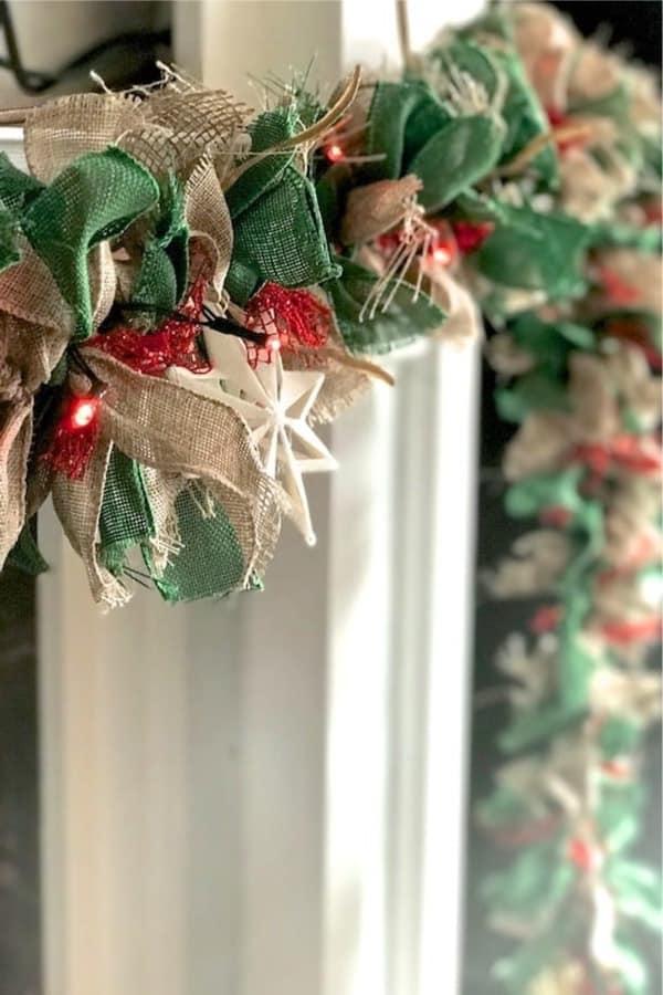 holiday garland from burlap