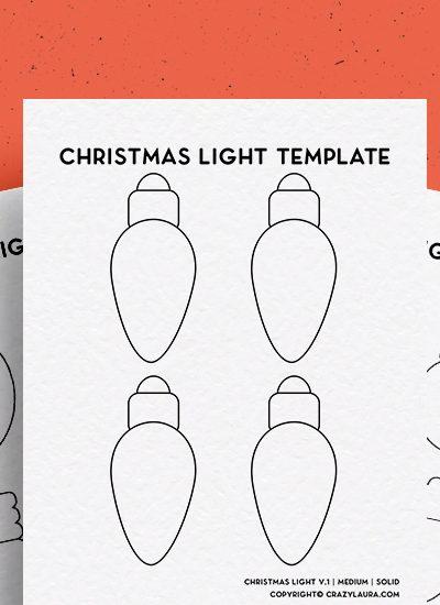 best light bulb template printable for christmas