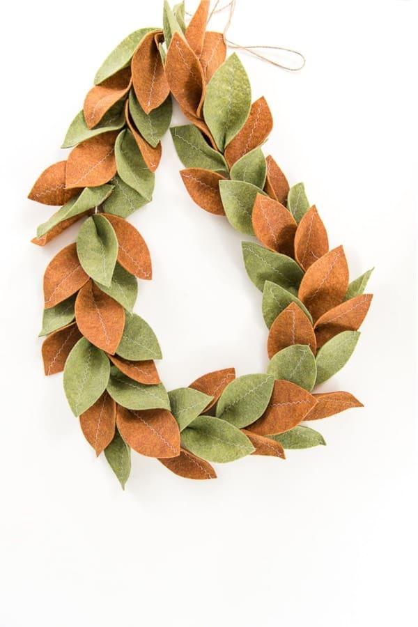 magnolia leaf diy decroation for christmas tree