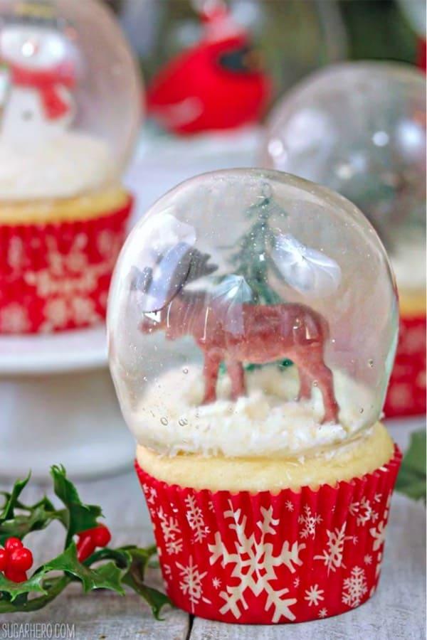 diy snowglobe cupcake recipe