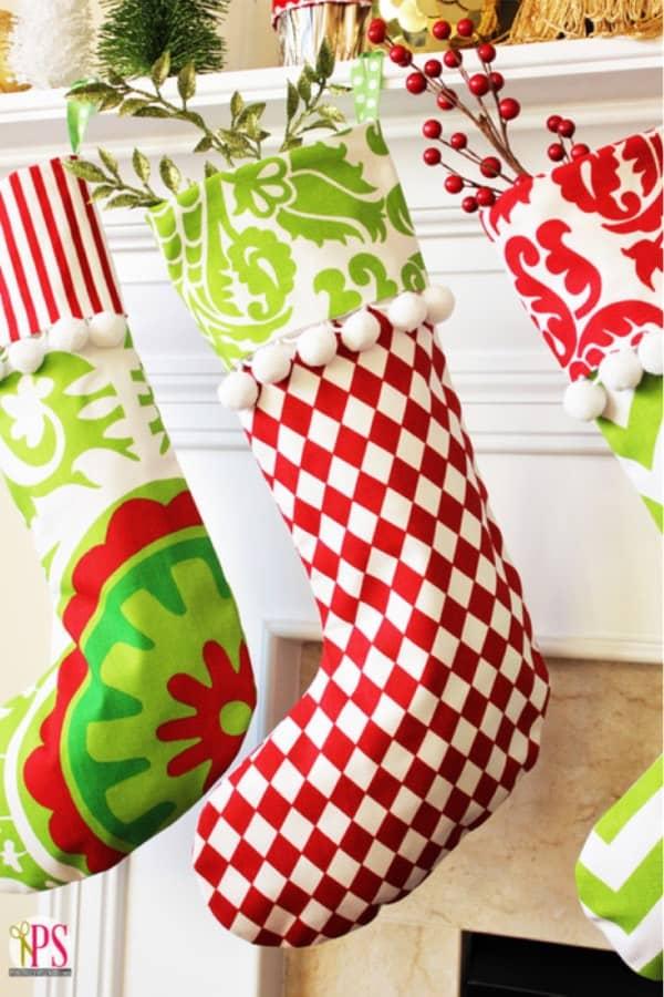 cuffed homemade stocking inspiration