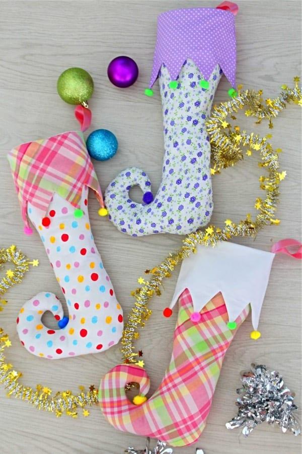 free pattern for elf shaped xmas stocking