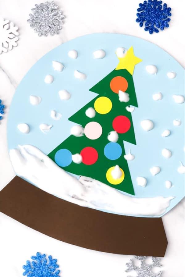 diy snowglobe christmas craft for kids