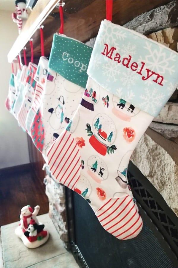 custom name diy stocking craft project