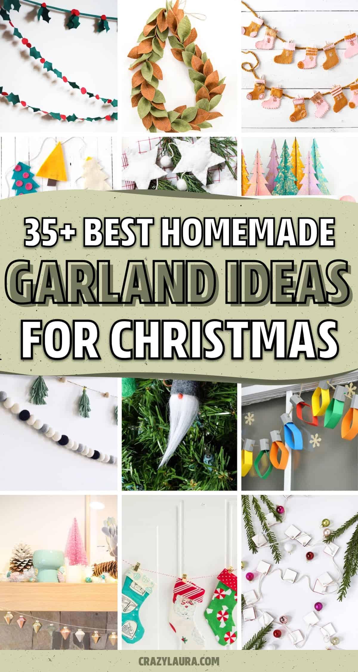 cheap ways to make holiday garland