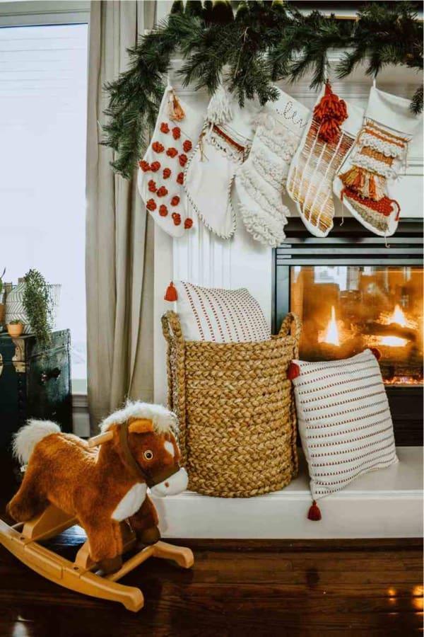 diy boho christmas stocking idea